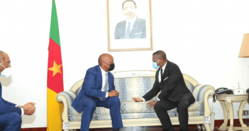 CAF President Motsepe holds key meeting with Cameroonian Prime Minister during working visit to Cameroon